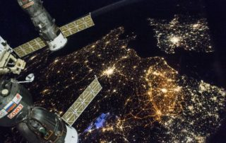 Northern Europe at night